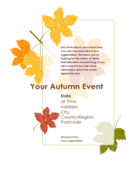 Fall event flyer (with leaves)