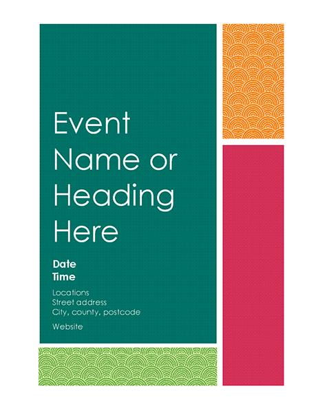 Colour block flyer