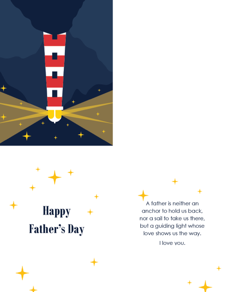 Father's Day card (from wife, quarter-fold)