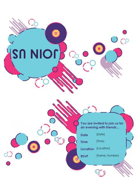Party invitation (quarter-fold)