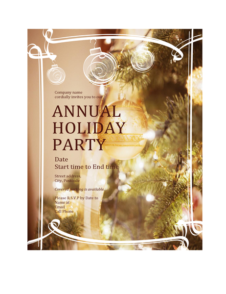 Christmas Party Invitation For Business Event