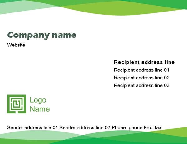 Envelope (Green Wave design)