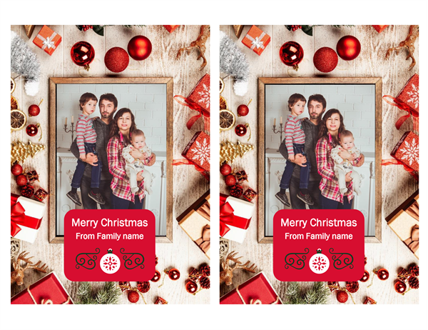 Winter warmth Christmas photo card