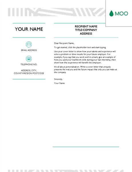 Creative cover letter  designed