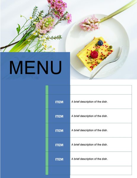 Party menu (Floral design)