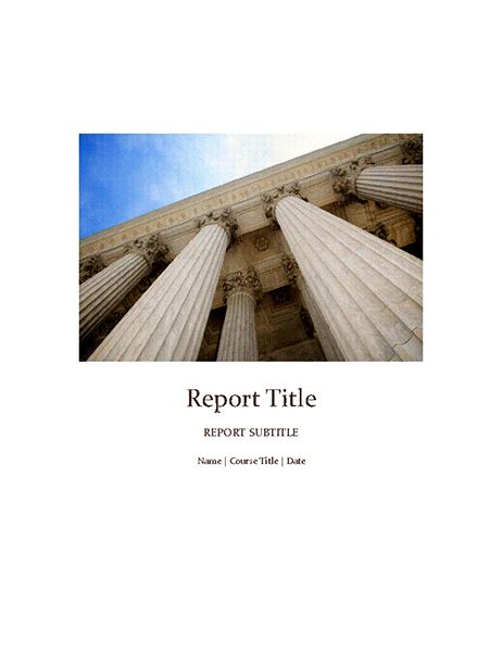 Student report with cover