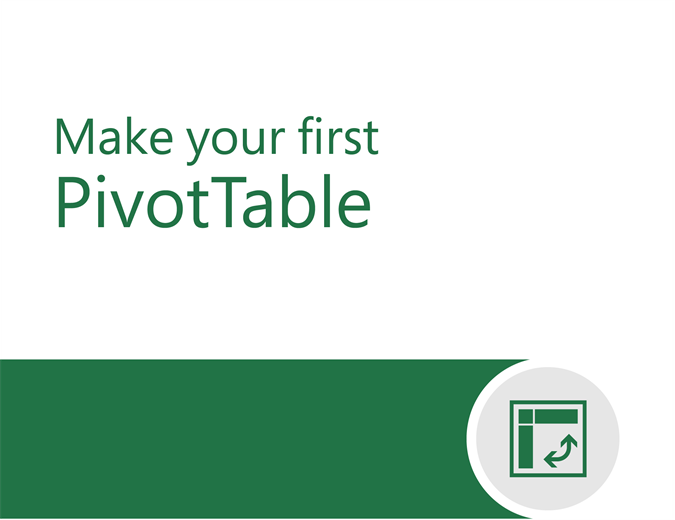 PivotTable tutorial