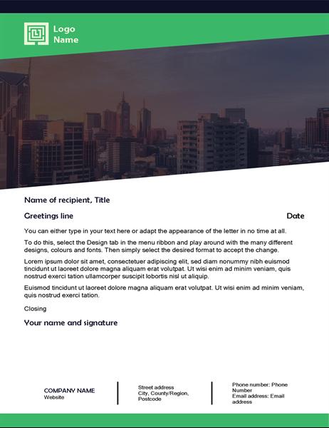 Business letter (Green Forest design)