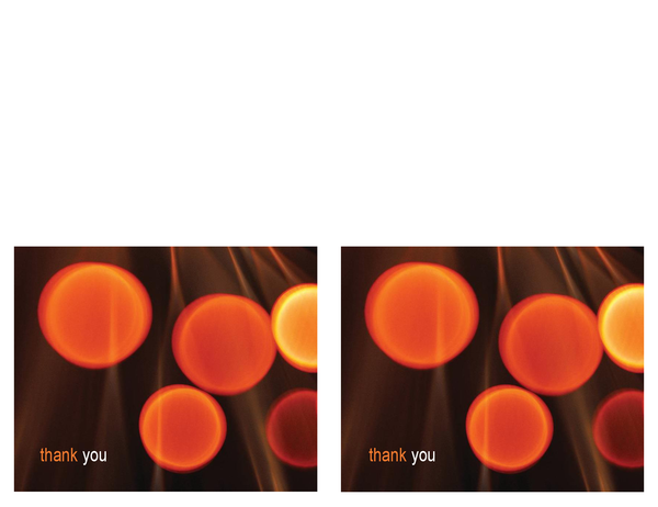 Technology business thank you card (2 per page, half-fold)