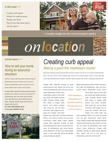 Property newsletter (4 pages)