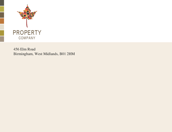 Property business envelope