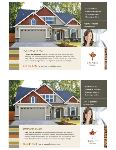 Property flyer (half-page, two per page)