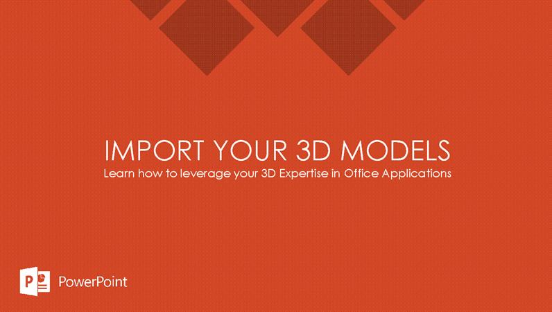 Import your 3D models