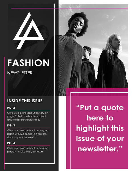 Fashion newsletter