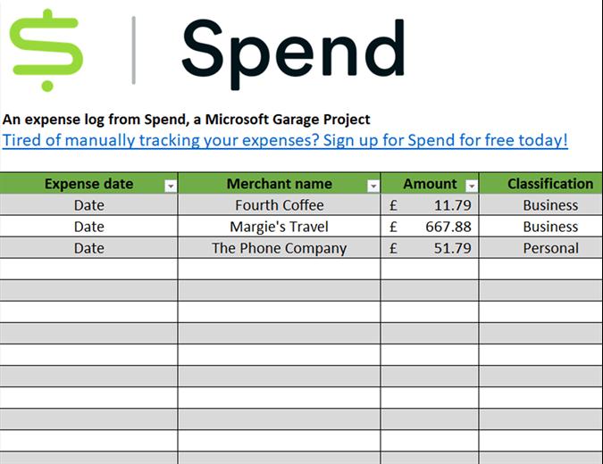 Spend expense tracker