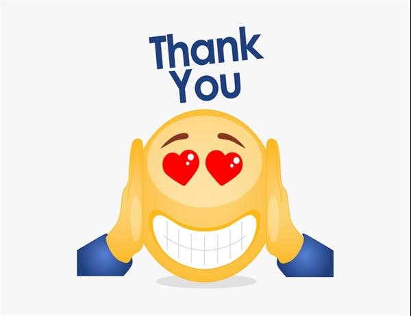 Emoji thank-you card