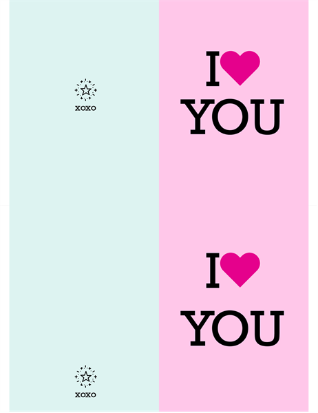 I heart you Valentine