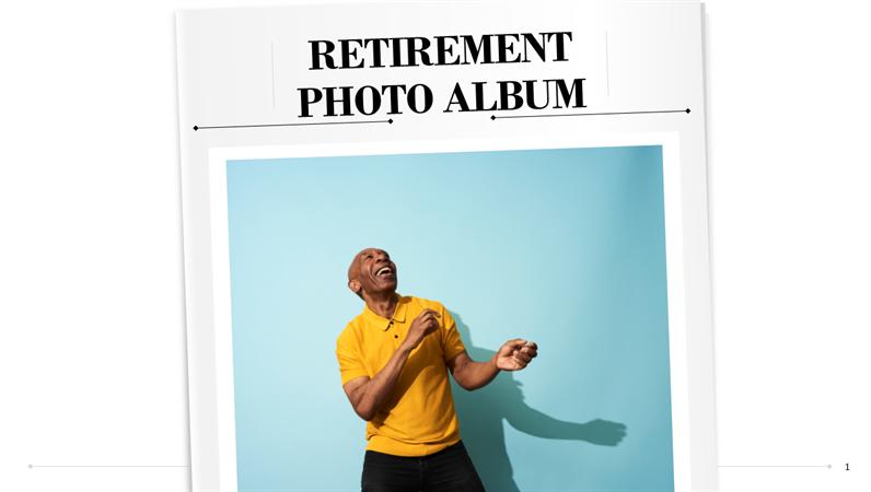 Retirement photo album