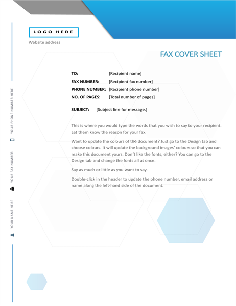 Hexagon fax cover