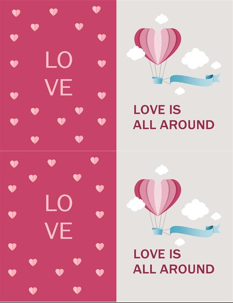 Love is all around Valentine's card