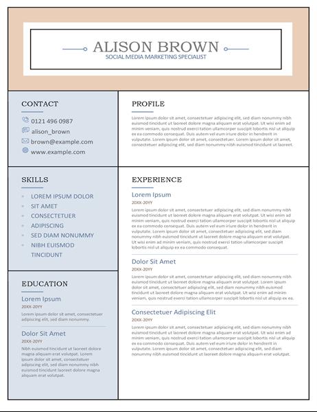 Columns CV