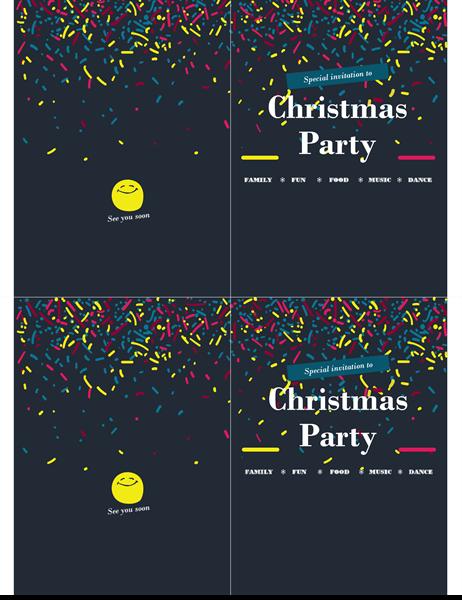 Holiday event invitation