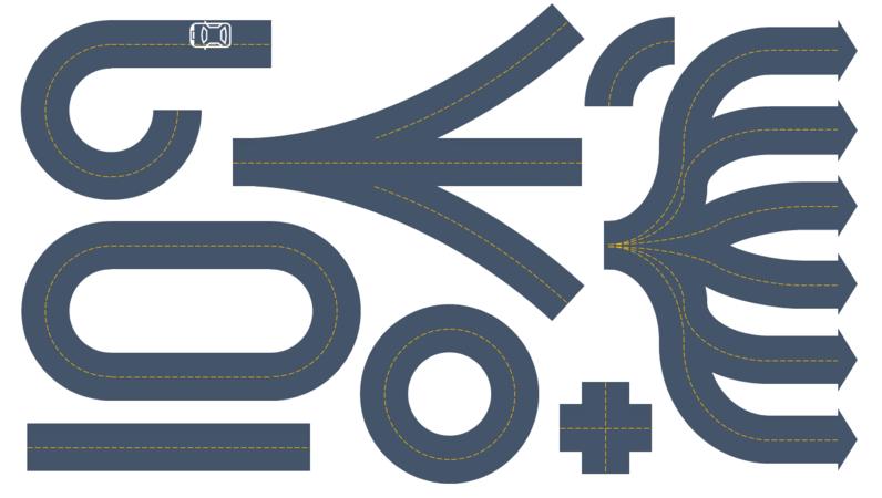 Road builder graphics