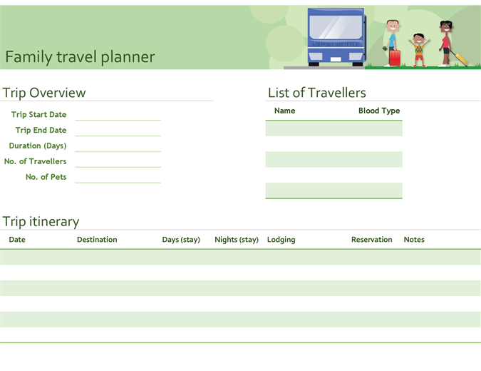 Family travel planner