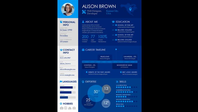 Timeline infographic resume
