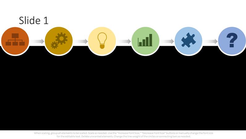 Multi-color process flowchart graphic
