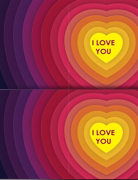 Hearts within hearts card