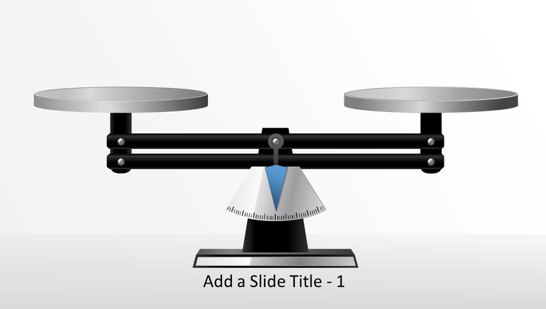 Animated scale graphic