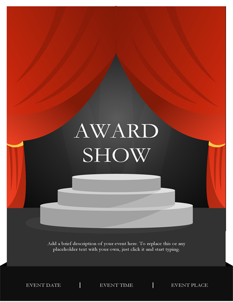 Awards show flyer