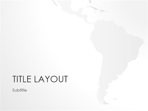 World maps series, South America presentation (widescreen)