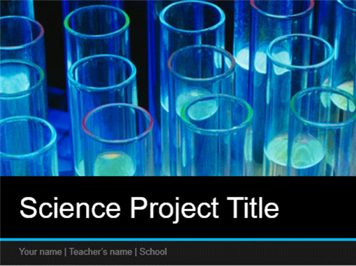 Science project presentation (widescreen)