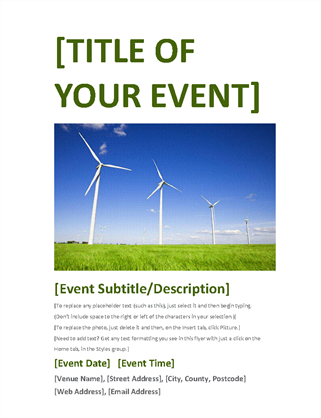 Event flyer (green)