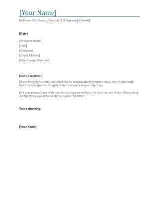 Bold letterhead