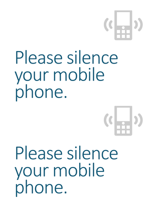 Cell phone off reminder poster