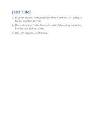 Basic list