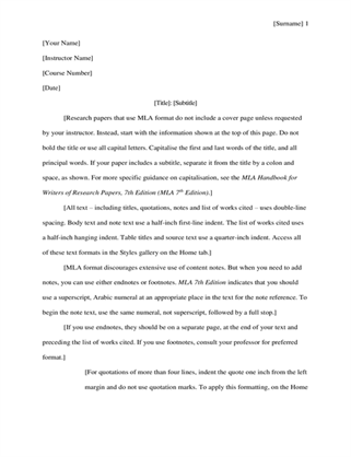 MLA style research paper