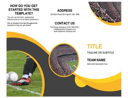 Sports brochure