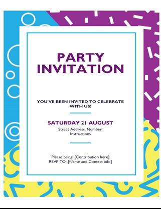 Festive party flyer