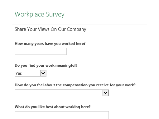 Workplace survey