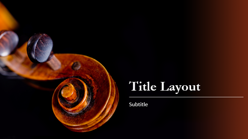 music themed powerpoint templates - music score presentation treble clef design
