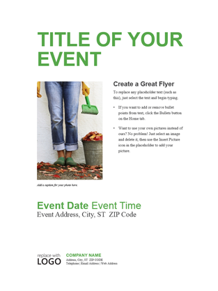 small business flyer green design