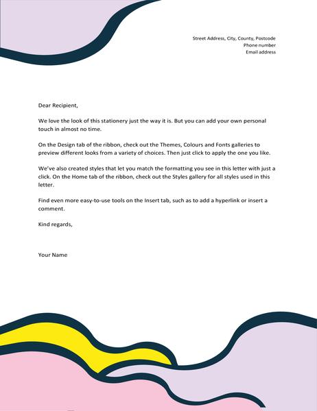 Organic shapes letterhead