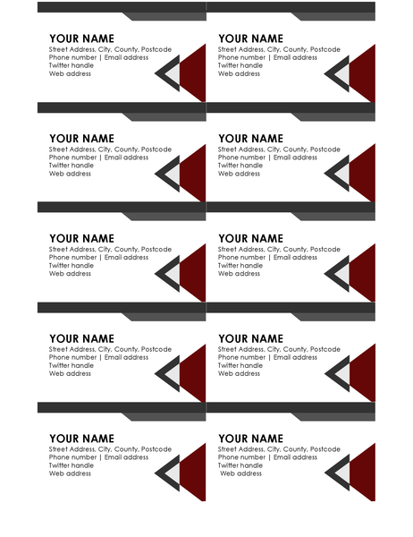 Modern angles business cards