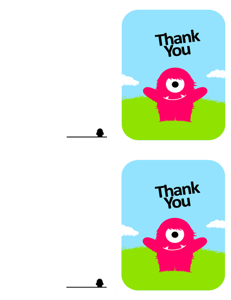Monster thank-you card