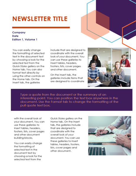 Newsletter (Executive design, 2 pages)
