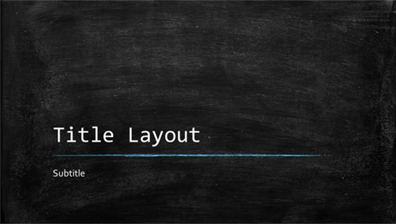 Blackboard educational presentation (widescreen)